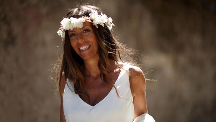 Luisa, en su boda con Jorge en Galicia