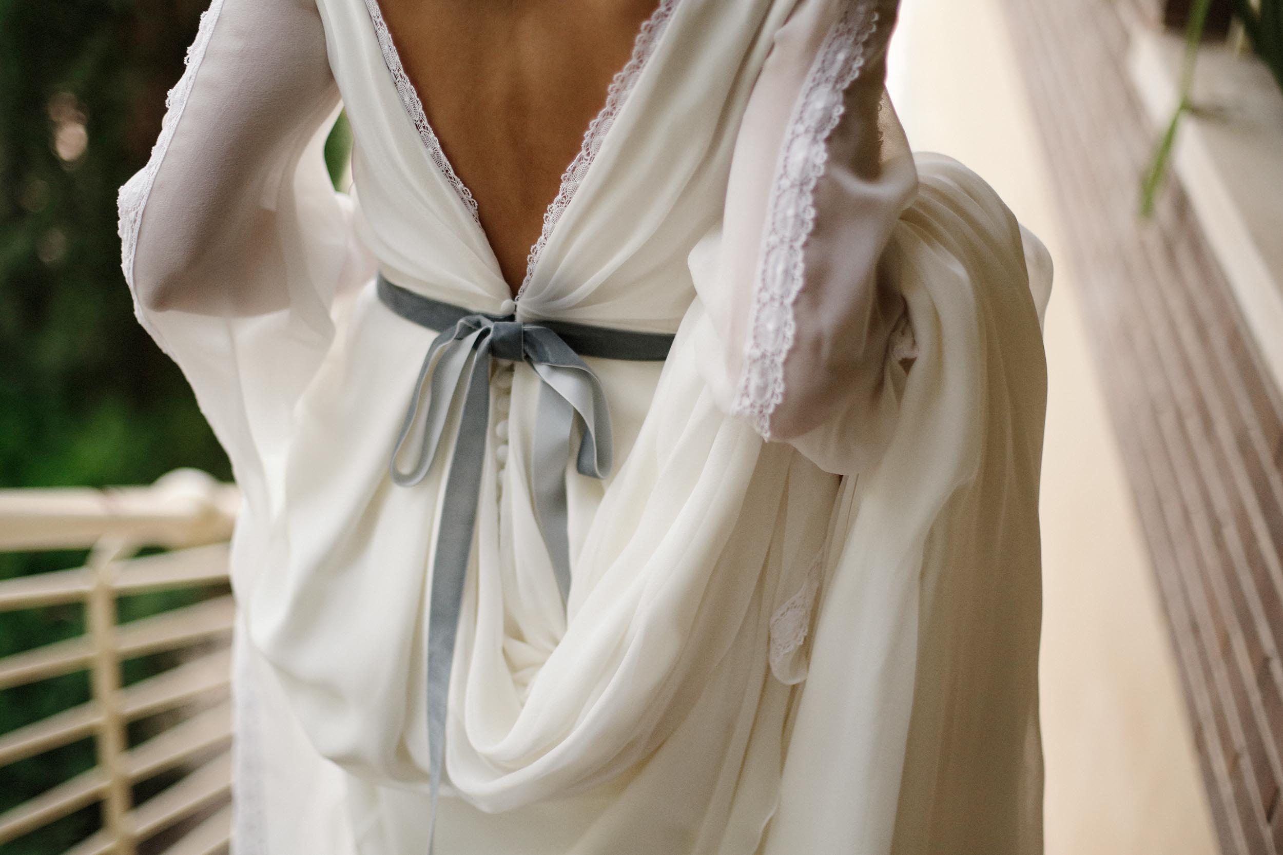 El traje de novia de Leticia