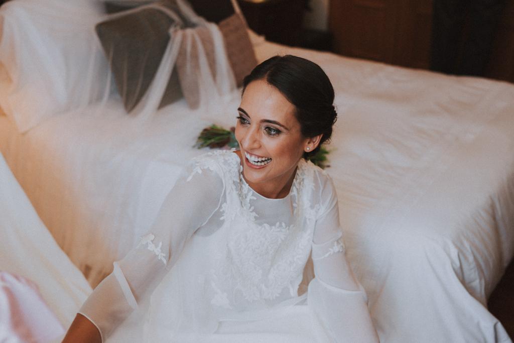 la boda de blanca en A Quinta da Auga